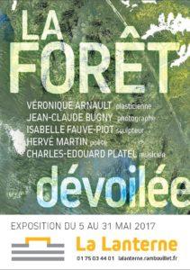 affiche de l'exposition la forêt dévoilée mai 20017 Pôle Culturel la Lanterne véronique Arnault