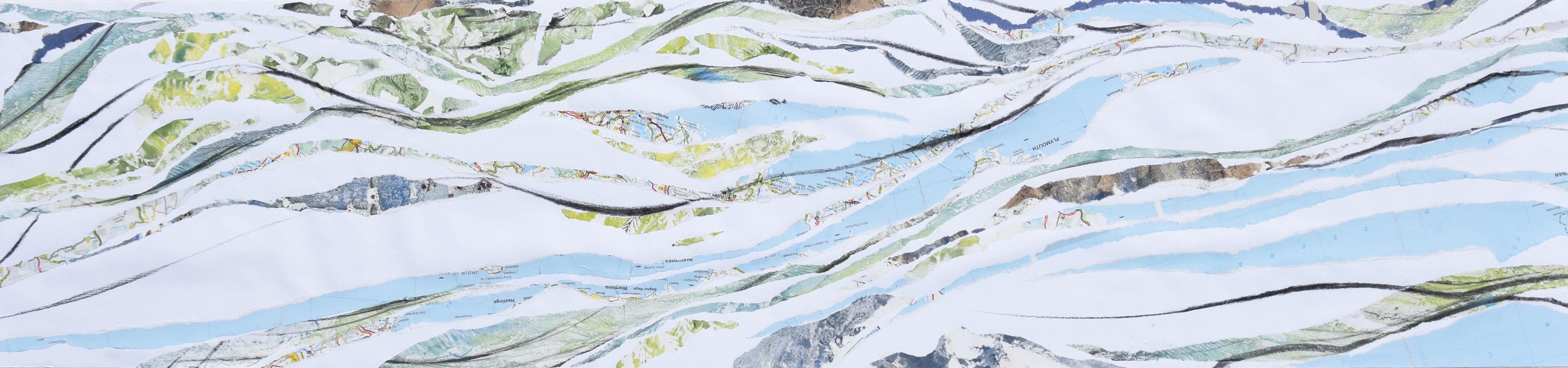 Peinture et collage de Véronique Arnault, plasticienne