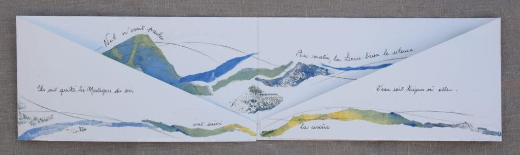 Livre d'artiste aréalisé avec le poète Irène Duboeuf