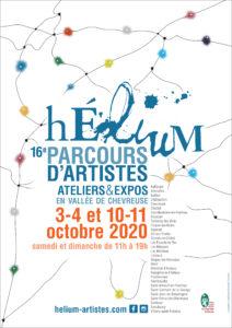 Affiche Hélium parcours d'artistes 2020 Véronique Arnault
